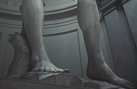 Michelangelo David feet